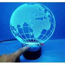 Luminária Abajur Acrílico Globo Led Colorido Base Toque