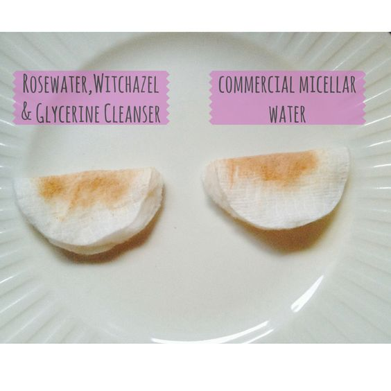 Rosewater, Witchazel and Glycerine cleanser vs Commercial Micellar Water