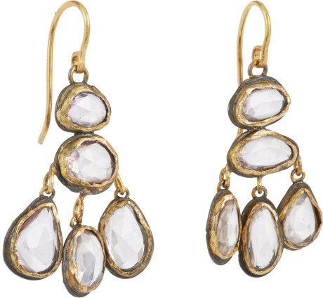 Judy Geib Pink Sapphire Drop Earrings