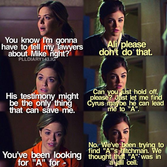 """#PLL 5x21 """"Bloody Hell"""" - Aria and Ali"""