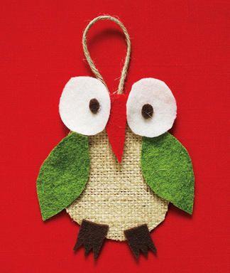 Christmas Owl Ornament -- So cute!