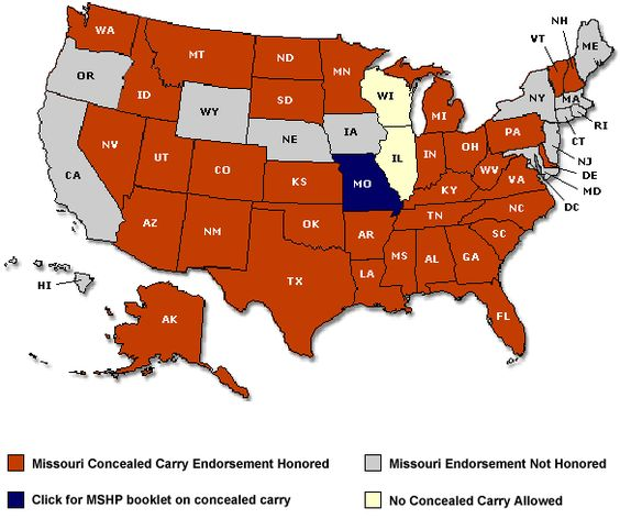 Concealed Carry Map