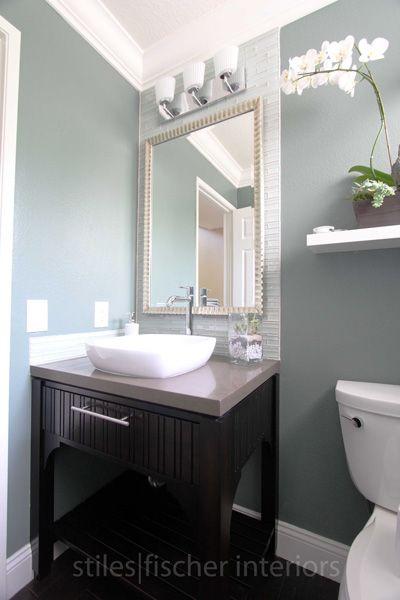 Bathroom Interior Design Ideas Guest Bathroom Downstair Framed Mirror And Backsplash To The