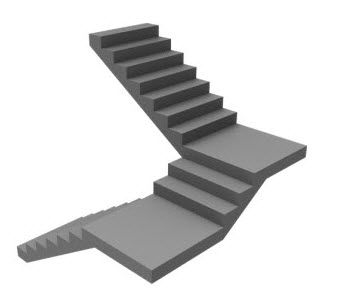 Dogleg staircase with steps in mid landing google search for Quarter landing staircase