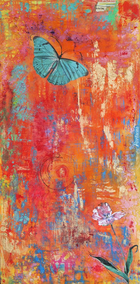 mixed media, acrylic and paper on canvas, 100×30 cm   Artist Ifigenia Christodoulidou