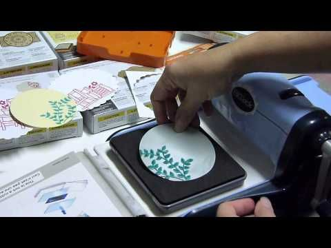 Using brayer to ink Fiskars Fuse - YouTube