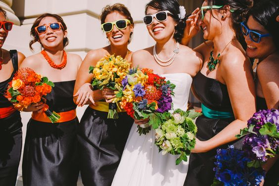 Rainbow Wedding - Florals By Pixies Petals - | Christine Farah Photography