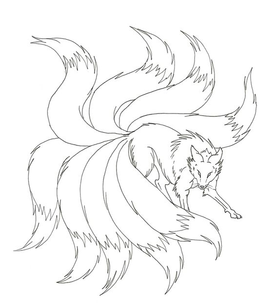 Nine Tailed Fox Drawings For Kids  Google Search
