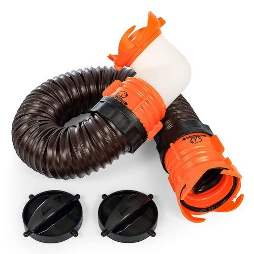Sewer Hose Kit Drains Your Rv S Black Water Tank Into A Portable