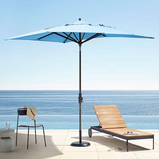 Outdoor Rectangle Umbrella Blue Outdoor Patio Umbrellas