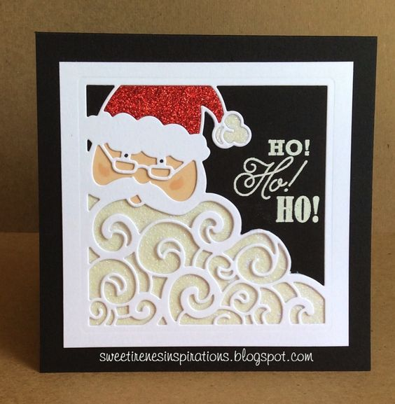 Ho! Ho! Ho!  Greetings From Santa     One of my favorite dies in the Stampin' Up 2016 Holiday Catalog is the Detailed Santa, he is ado...