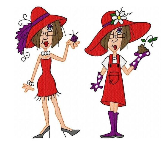 Red hats, Red hat society and Clip art on Pinterest