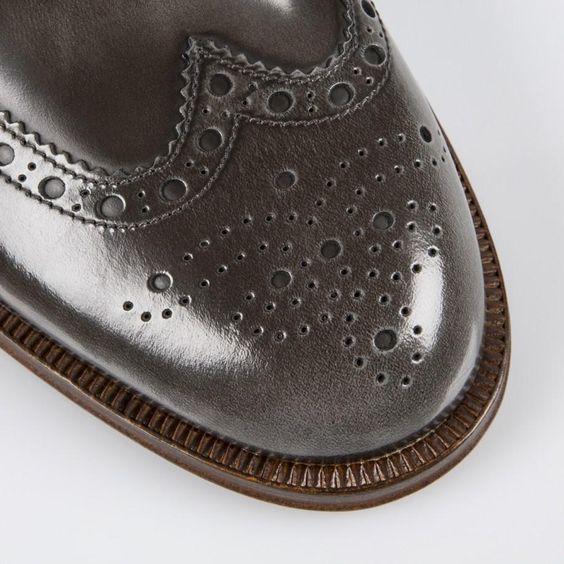 Paul Smith Shoes - Tan High-Shine Leather Jacob Brogues