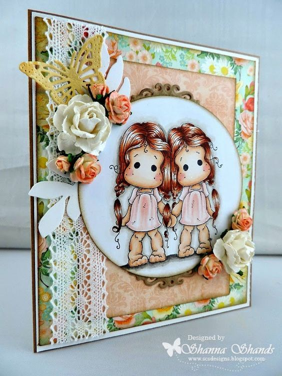 Loves Rubberstamps Blog: Thursday Inspirations - Design Team Member Shanna Shands using Magnolia Stamps - Gemini Twins