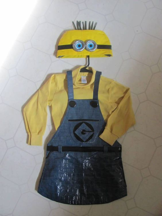 Duct Tape Halloween Costume (Minion) as featured on ducttapefashion.com.  #ducttape