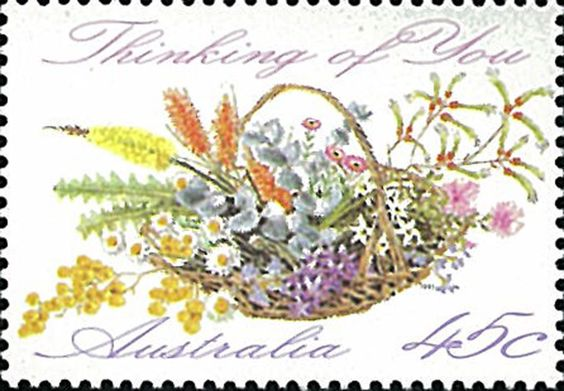 Australia Stamp JH1234, 1992 Thinking of You, Flower, Flora, Bouquet