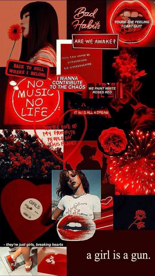 Pin By I The Way You Are On Wallpaper Moodboards Red Aesthetic Pastel Aesthetic Aesthetic Wallpapers