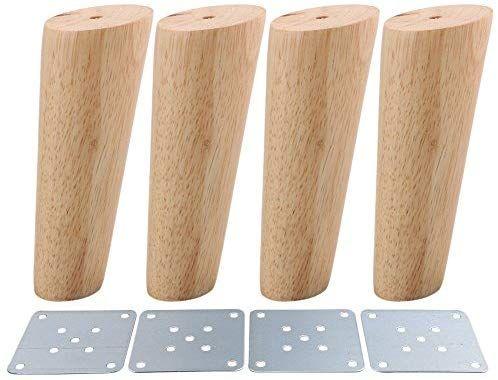 Juego de 4 patas de repuesto de muebles escandinavos de madera