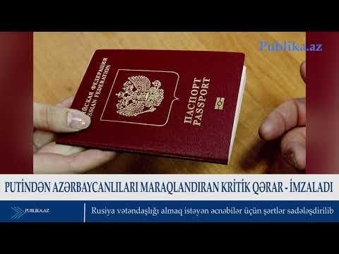 Putin Azərbaycanlilari Maraqlandiran Kritik Qərar Imzaladi Video Dunyaxəbər Informasiya Portali Make It Yourself