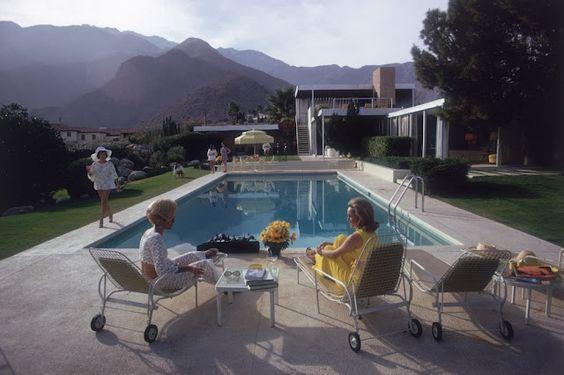 Slim Aarons - 'Gossip by the Pool' 1970