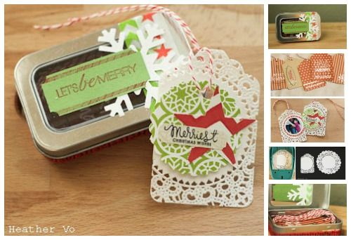 diy tag set - punch tags from doilies!
