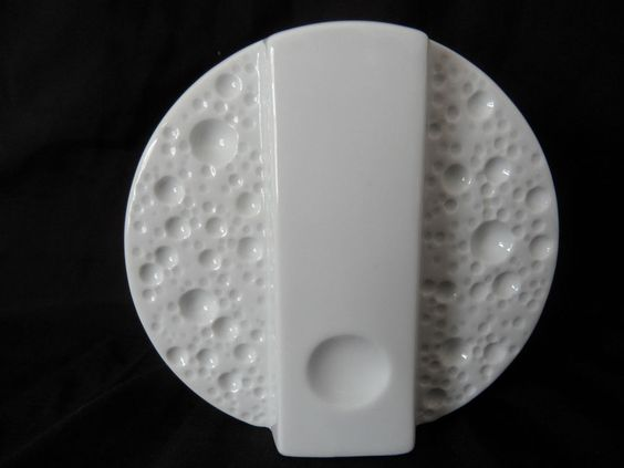 Runde Design Porzellan Vase op art  Moon Craters Mondkrater von Winterling (A66)