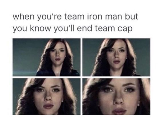 I'm on Team Cap, but does any of my Team Iron Man followers feel this way??