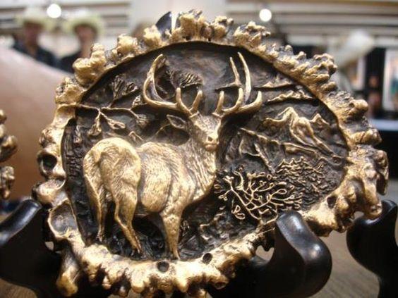 Bronze Big Game Belt Buckles Bronze Sculpture Belt Buckles Big game Wildlife - Bronze Belt Buckles