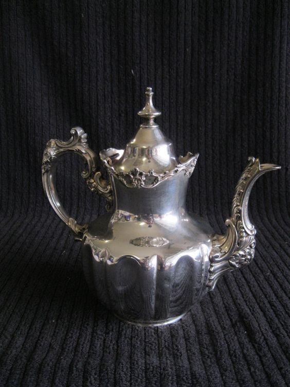 Antique Derby Silver Company Teapot 1674 Quadruple Silver