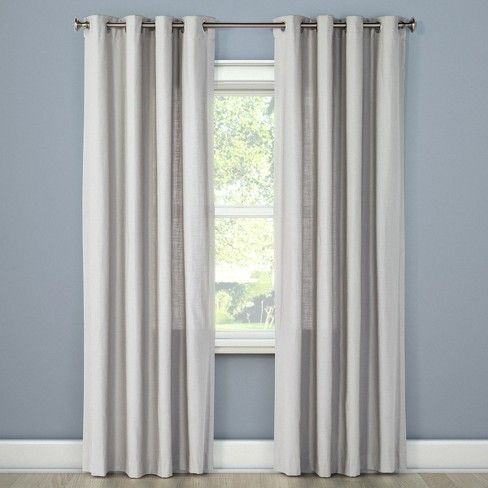 Natural Solid Curtain Panel Threshold Target Panel Curtains