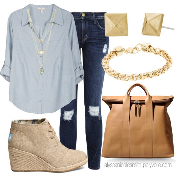 """Casual Sunday Outfit"" by alyssanicolesmith on Polyvore"