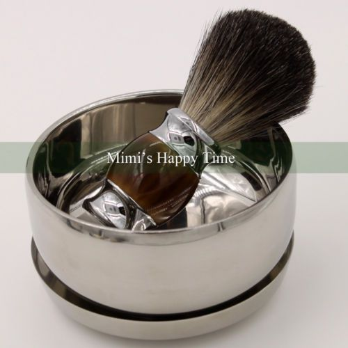 100% pure black badger hair wet #shaving #brush mug bowl men #luxury shave tool k,  View more on the LINK: http://www.zeppy.io/product/gb/2/371472735543/