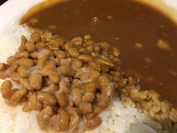 First time to try #natto curry today :) with Natto taste I easily get full