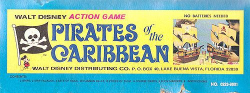 Old 1975 Walt Disney Pirates of the Caribbean Action Game