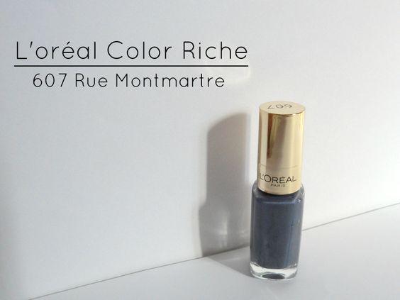 L'oréal Color Riche Nailpolish In Rue Montmartre - Review & Swatches
