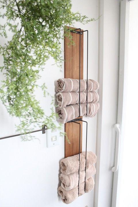 Badezimmer Speicher Ideen Fur Kleine Badezimmer In 2020 Bath Towel Storage Decor Home Decor
