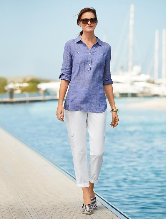Poplin Relaxed Crop | Talbots - SB May 2018
