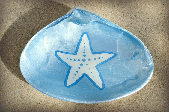 Starfish Sea Clam Shell Dish Cranberry Collective