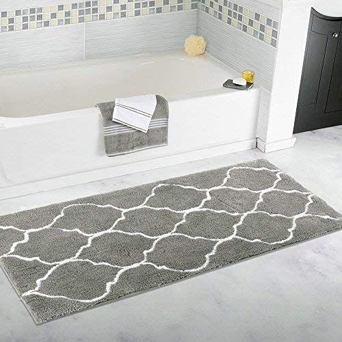 Homcomoda Bath Mat Runner Rugs For Bathroom Microfiber Machine