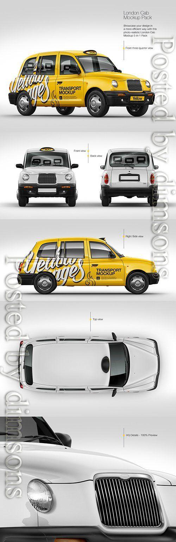 London Cab Pack Mockup Tif London Cab Cab London Taxi