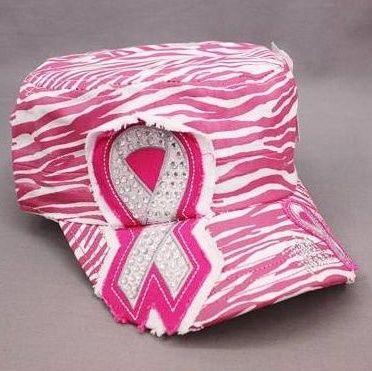 Breast Cancer Pink Zebra Hat.... cute!!!!!!!!!!!!!!