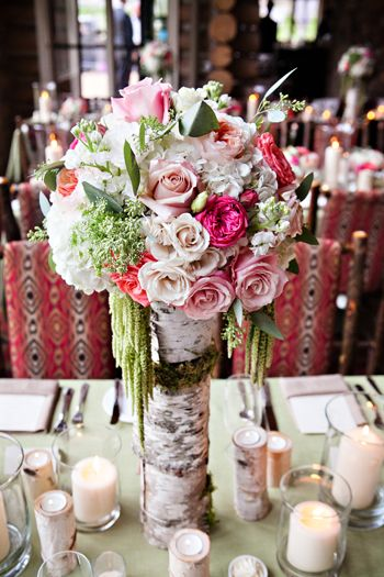 Mountain Rustic at Beano's Cabin | Bloom Flower Shop | Bella Design & Planning | Frances Photography