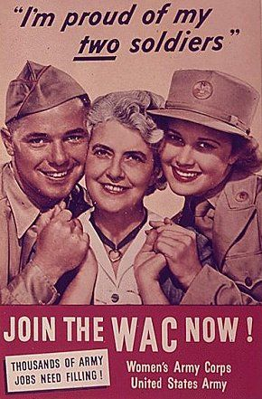 World War II - WAVES, WACs, WASPs & SPARs - They served not only in the Army (WAC), but also with the Navy (WAVES) and Coast Guard (SPARs). Although never officially members of the armed forces, Women Air Force Service Pilots (WASPs) provided critical support for the war effort.