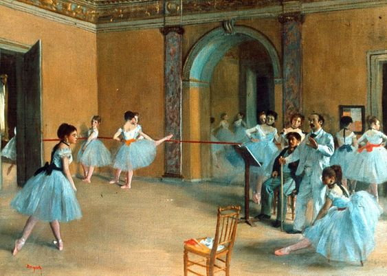 Edgar Degas - Rehearsal of the Scene  Degas was a French artist famous for his work in painting, sculpture, printmaking and drawing. He is regarded as one of the founders of Impressionism.