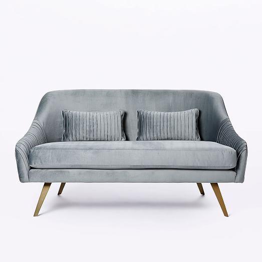 Roar Rabbit Glamour Velvet Sofa 60