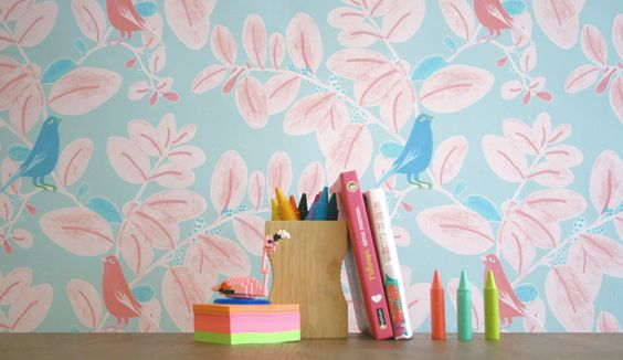 This wallpaper would be perfect in a kids space!!