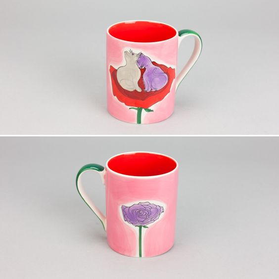 Caneca Rose Eternal Love | A Loja do Gato Preto | #alojadogatopreto | #shoponline