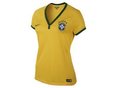 2013/14 Brasil CBF Stadium Short-Sleeve Women's Football Shirt