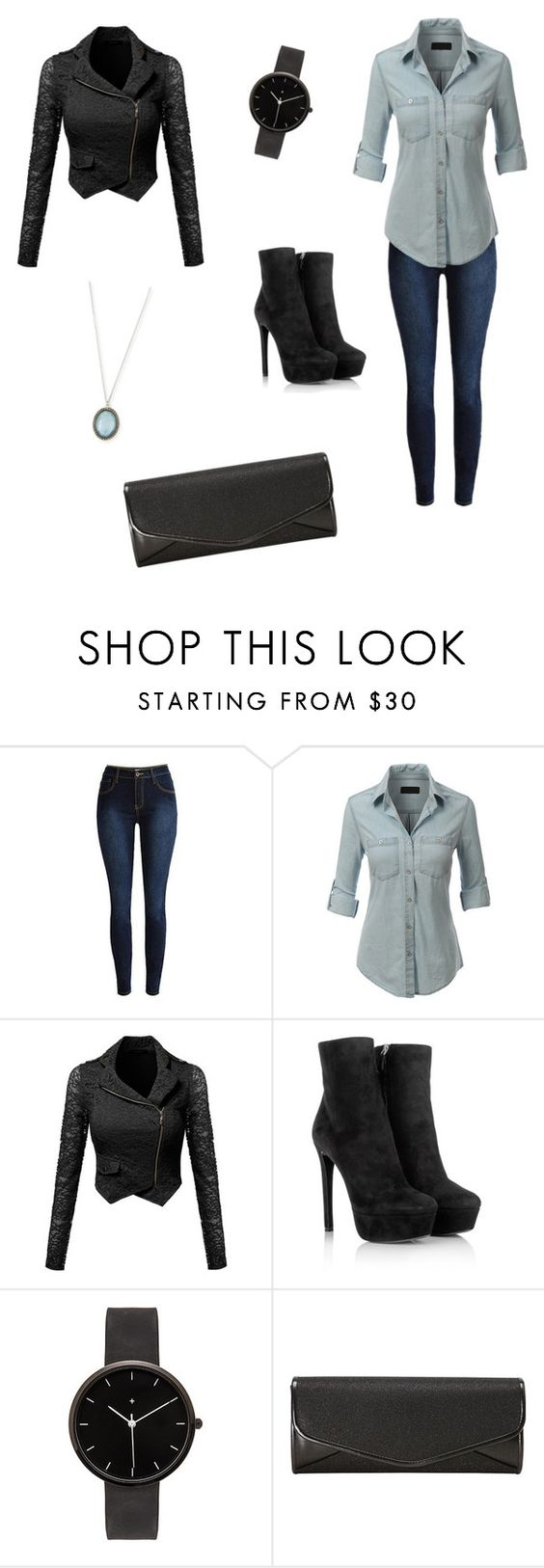 """""""KATE BECKETT INSPIRED OUTFIT"""" by caitzzz ❤ liked on Polyvore featuring LE3NO, Prada, I Love Ugly, J. Furmani, Armenta, women's clothing, women, female, woman and misses"""