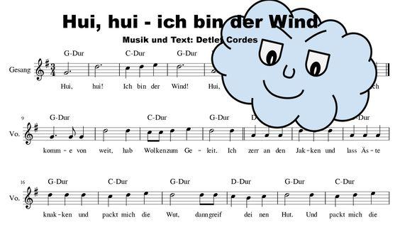Hui, Hui - ich bin der Wind